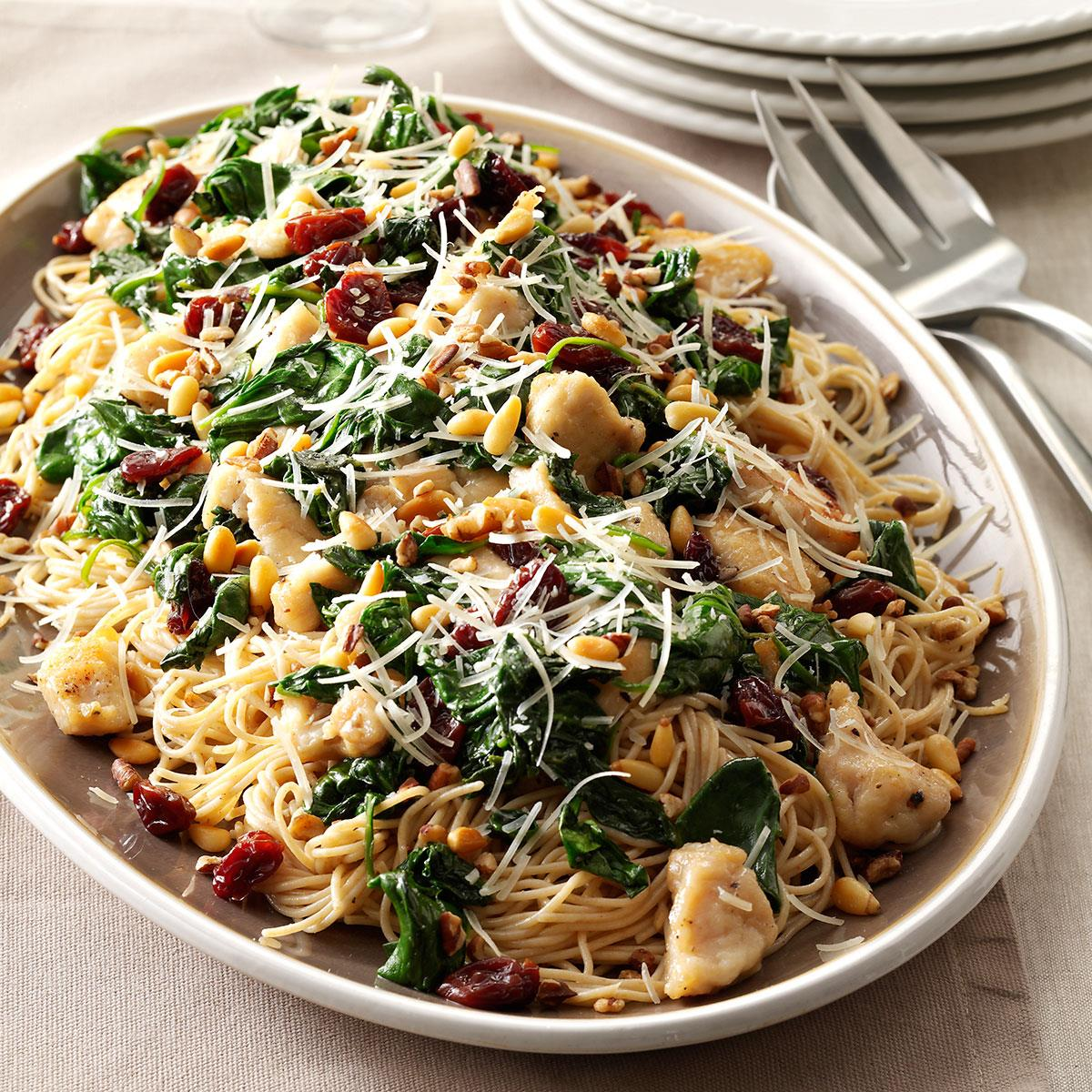 Angel Hair With Chicken Cherries Recipe How To Make It Taste Of Home