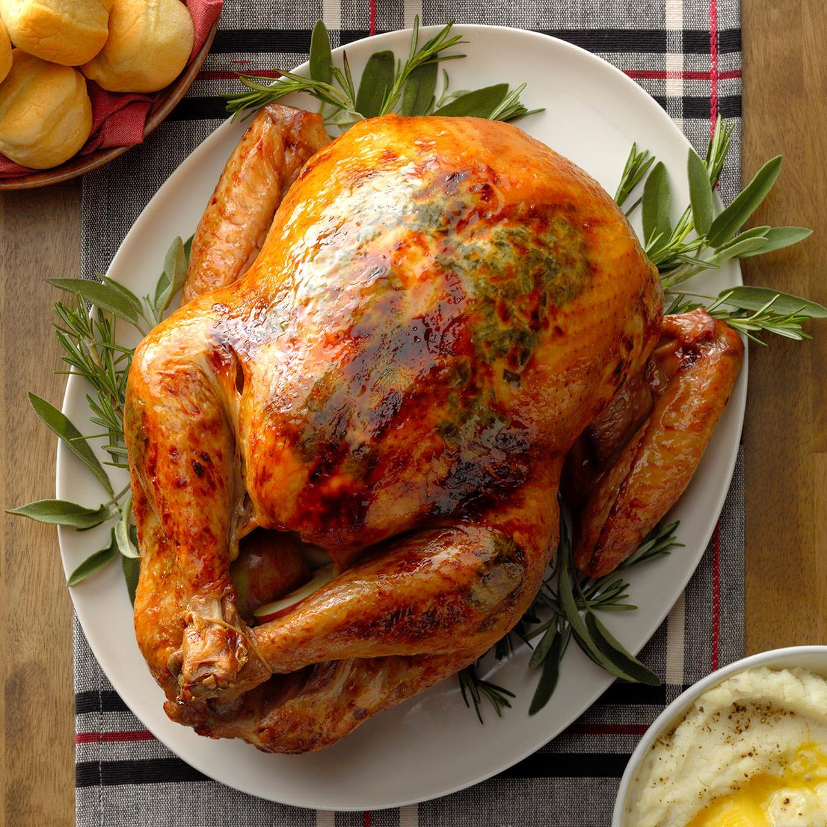 Apple Herb Roasted Turkey Recipe How To Make It Taste Of Home