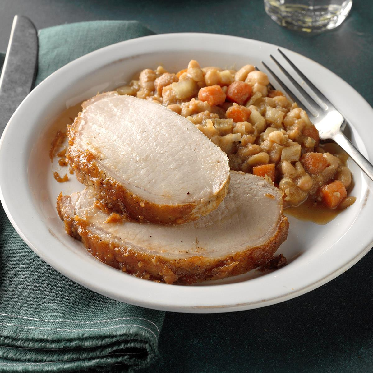 Apple Butter Pork with White Beans