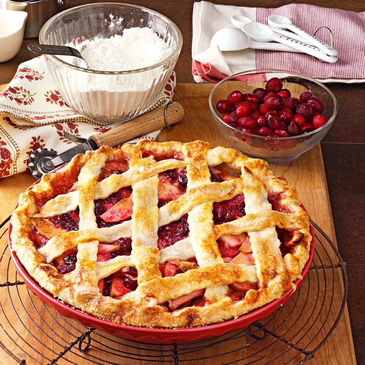 Apple Cranberry Pie image