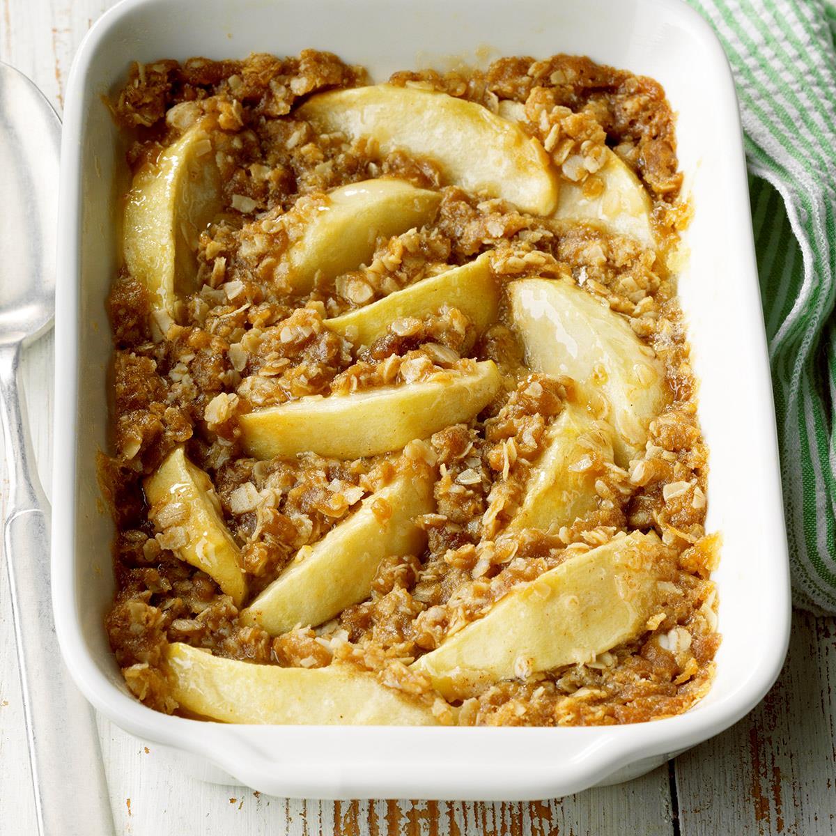 Apple Crisp For Two Recipe How To Make It Taste Of Home