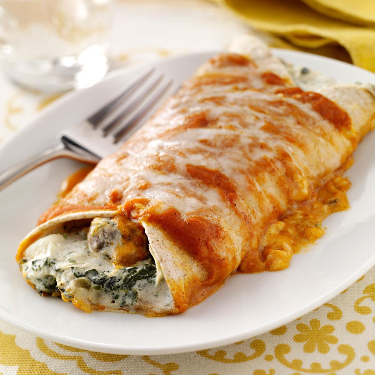 spinach chicken enchiladas recipe