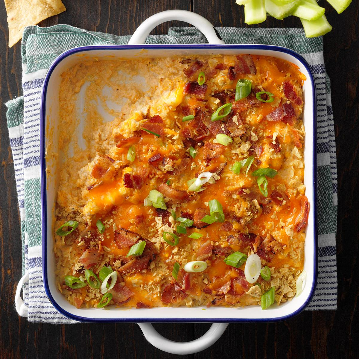 Bacon Buffalo Chicken Dip Recipe How To Make It Taste Of Home