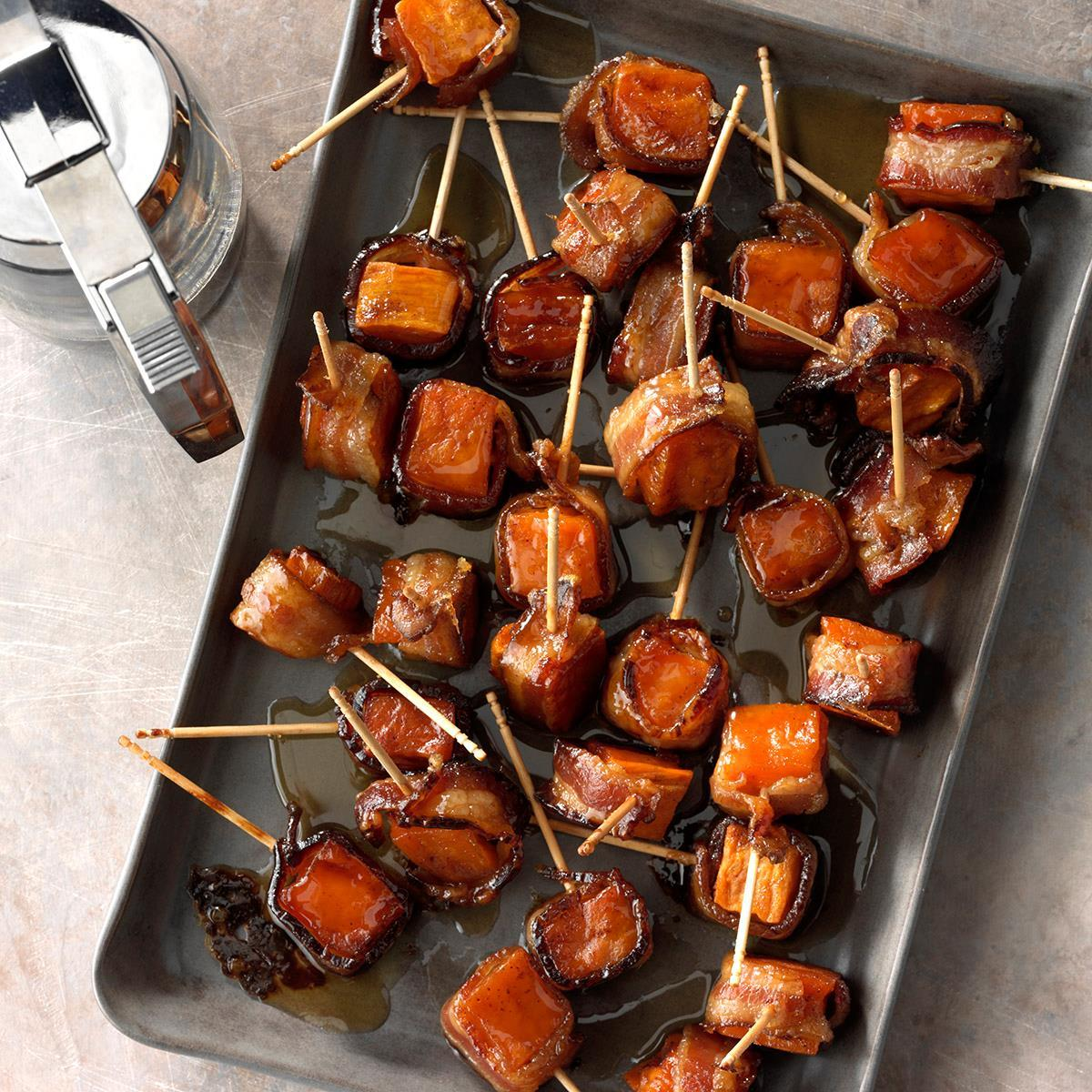 Bacon-Wrapped Sweet Potato Bites image