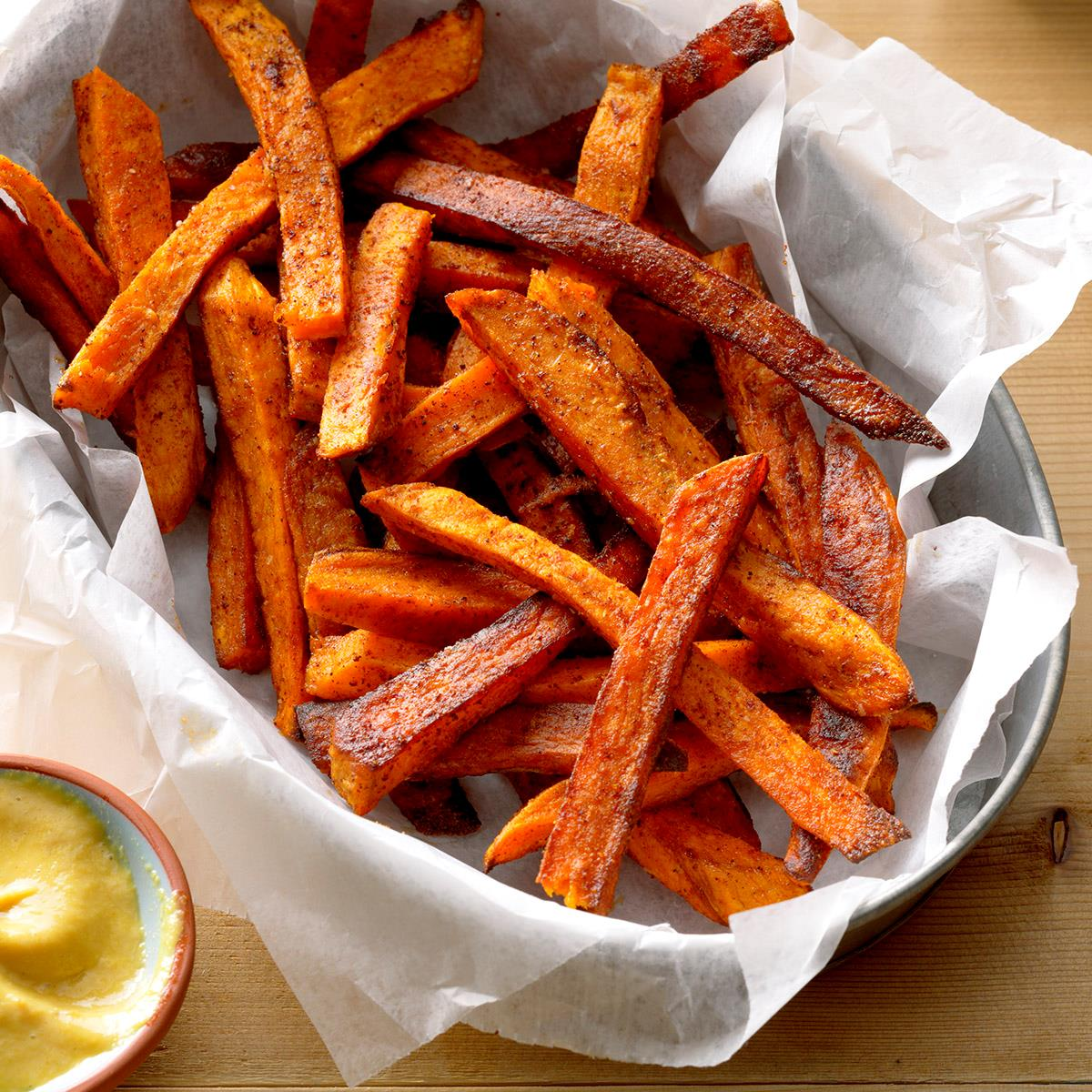 Baked Sweet Potato Fries Recipe How To Make It Taste Of Home