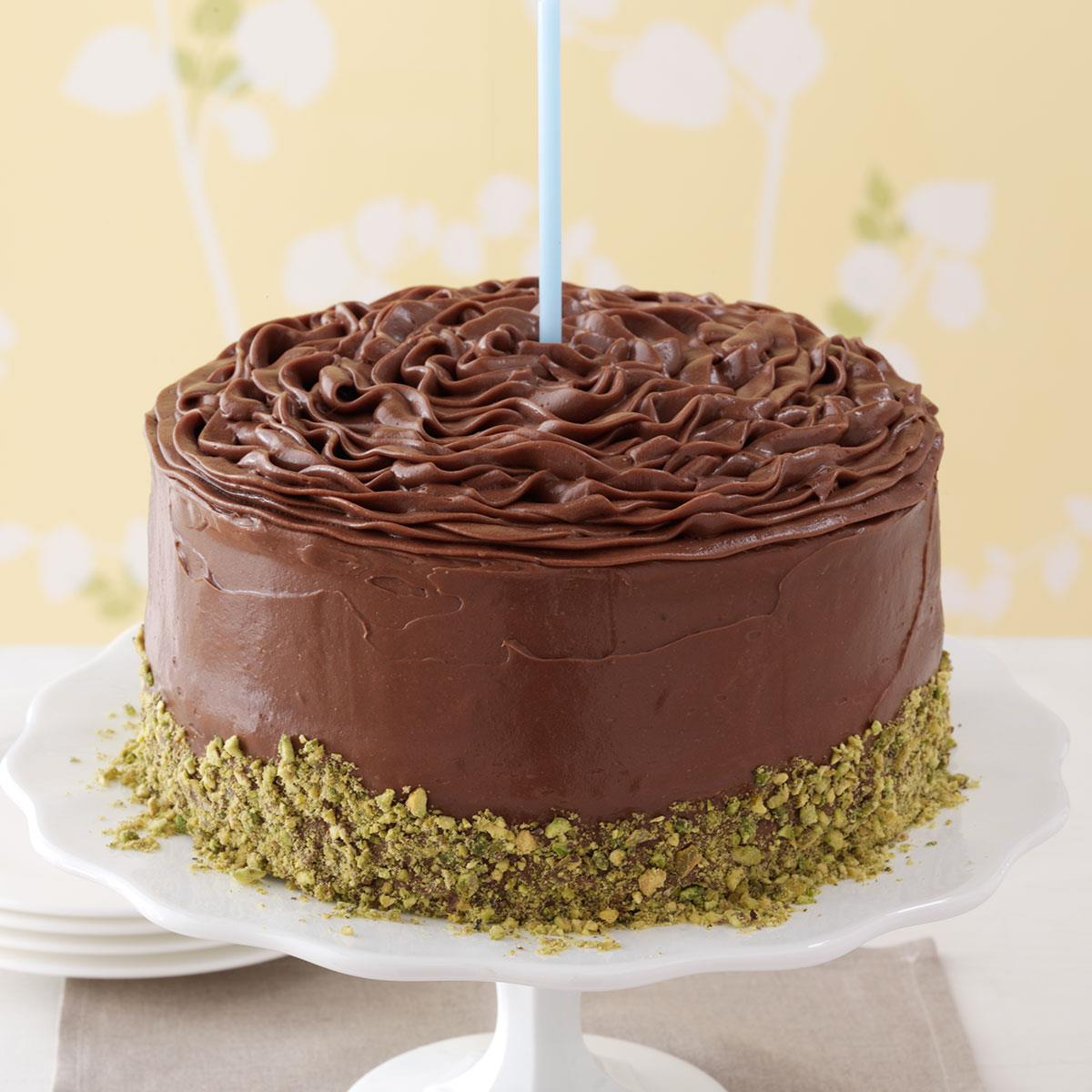 Sensational Banana Cake With Chocolate Frosting Recipe Taste Of Home Funny Birthday Cards Online Inifofree Goldxyz