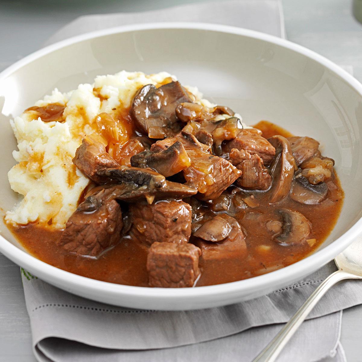 Beef Mushroom Braised Stew Recipe How To Make It Taste Of Home
