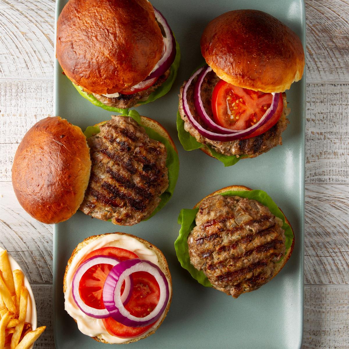Beef N Pork Burgers Recipe How To Make It Taste Of Home