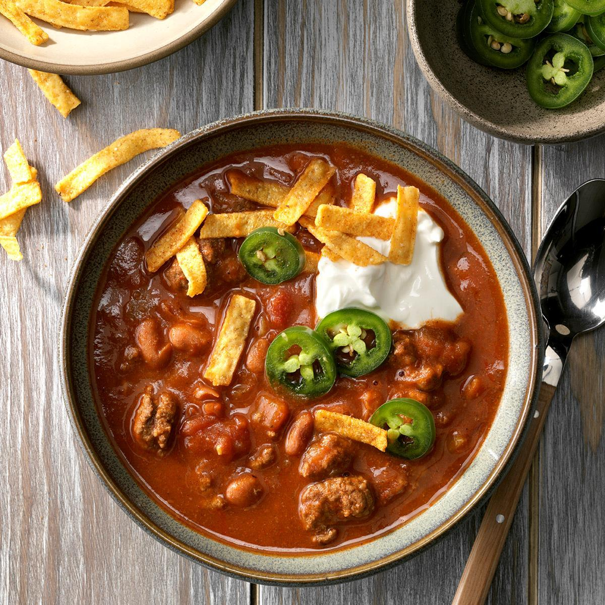 Beef Taco Chili Recipe How To Make It Taste Of Home