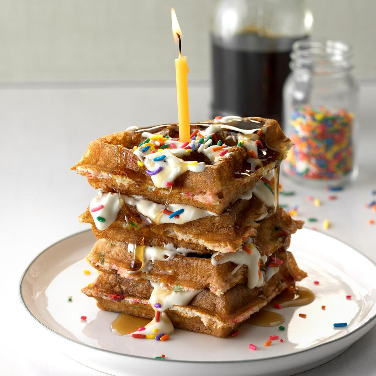 Strange Birthday Cake Waffles Recipe Taste Of Home Funny Birthday Cards Online Barepcheapnameinfo