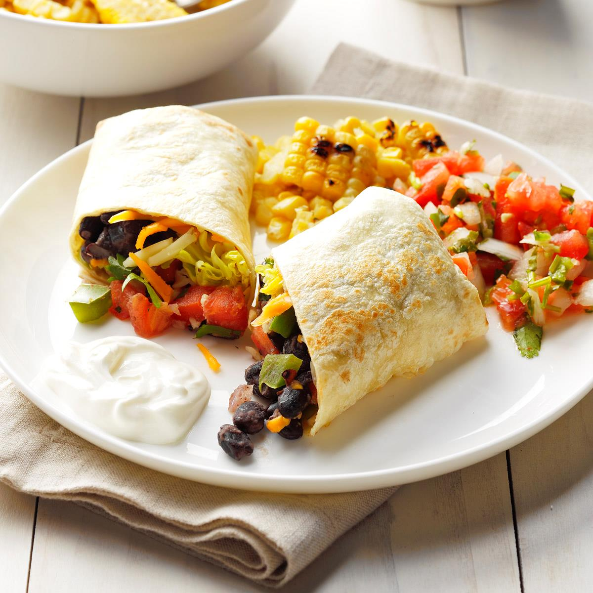 Black Bean Burritos Recipe How To Make It Taste Of Home