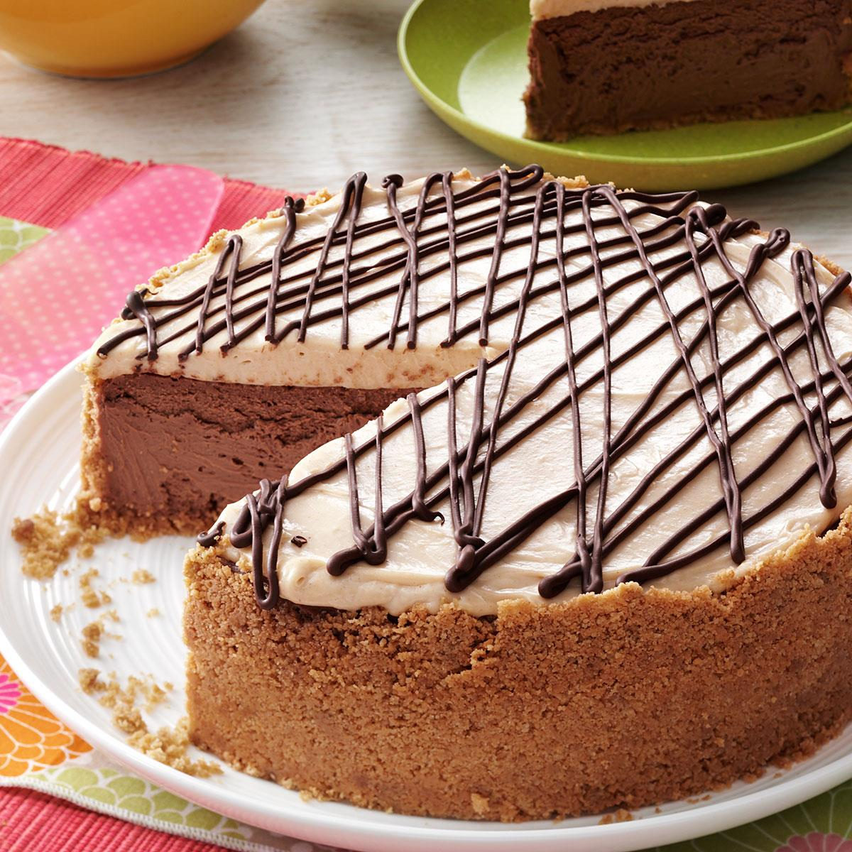 Blissful Peanut Butter Chocolate Cheesecake Recipe How To Make It Taste Of Home