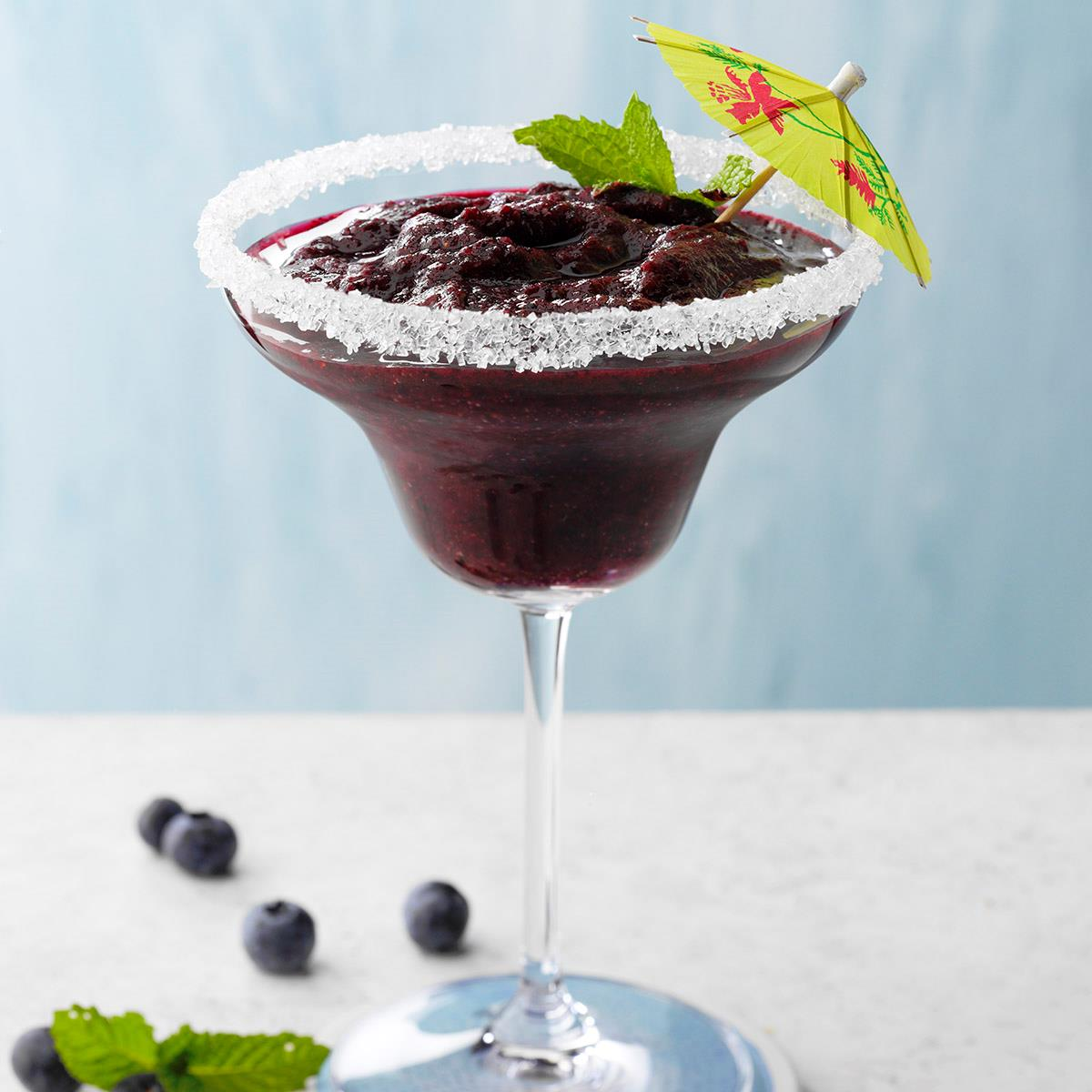 Frozen Blueberry-Mint Margarita