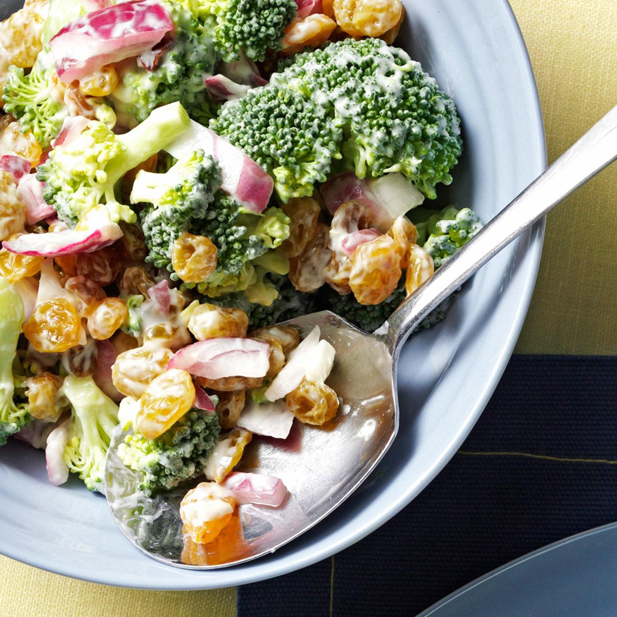 Broccoli Raisin Salad Recipe How To Make It Taste Of Home
