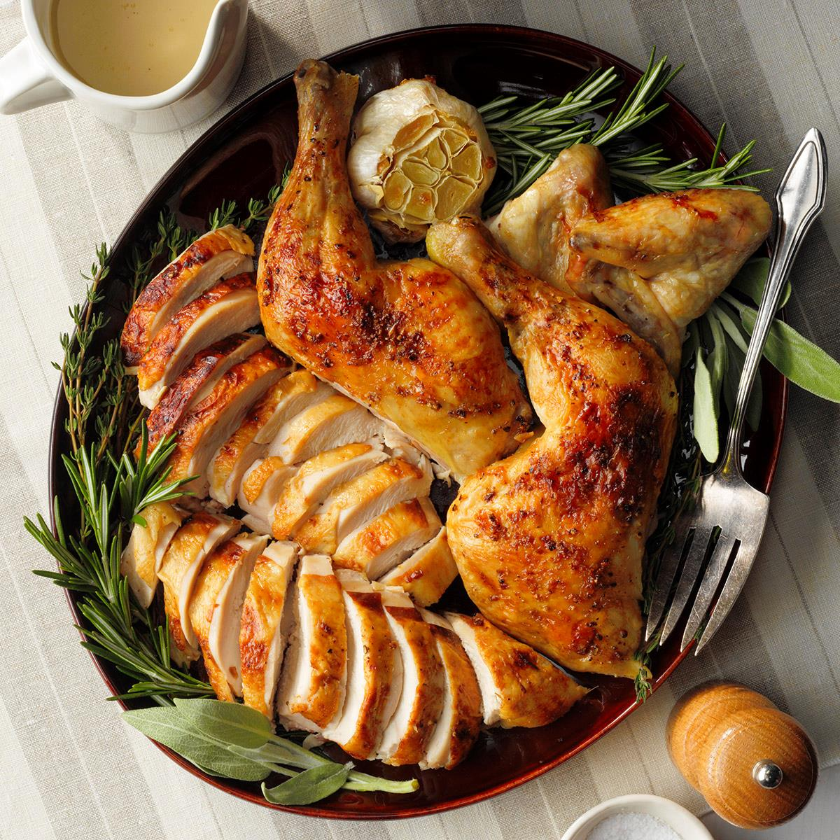 Buttery Herb Roasted Chicken Recipe How To Make It Taste Of Home