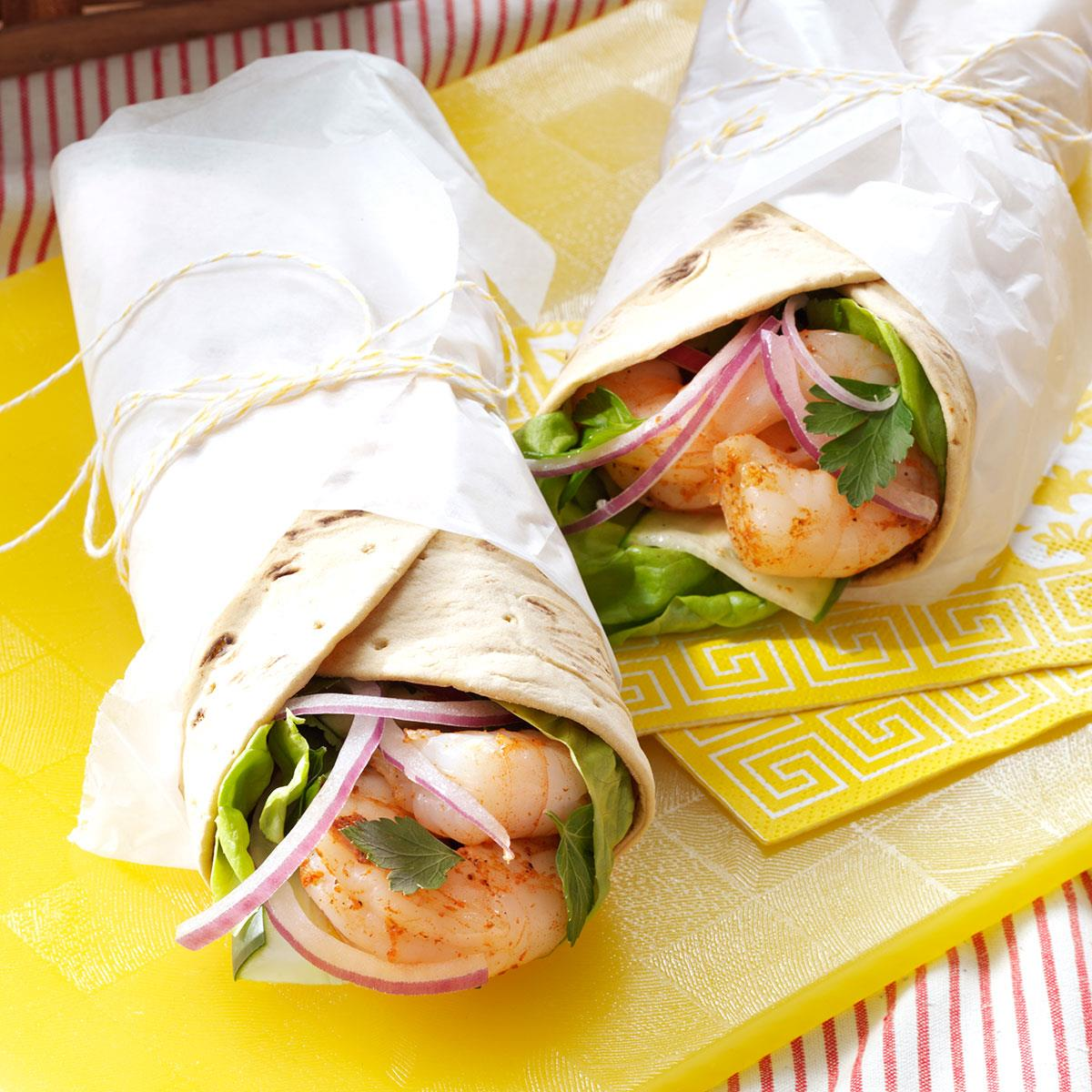 Cajun Shrimp Cucumber Wraps Recipe How To Make It Taste Of Home