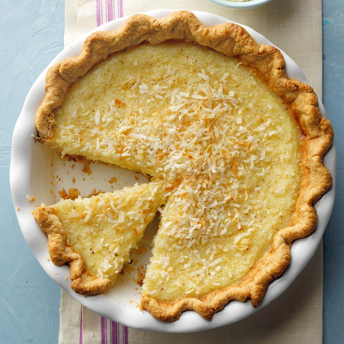 Can T Miss Coconut Custard Pie Recipe How To Make It Taste Of Home