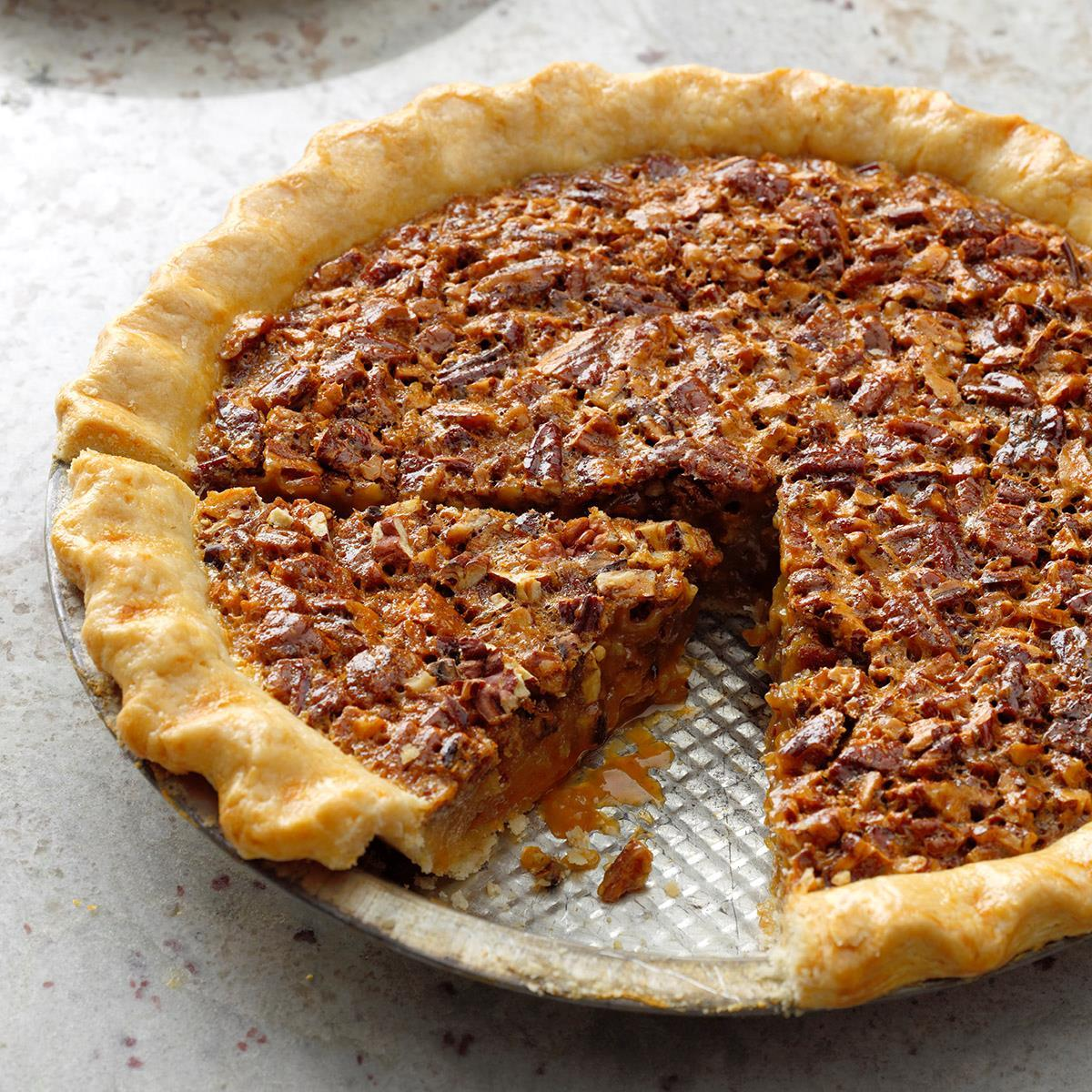Caramel Pecan Pie Recipe How To Make It Taste Of Home