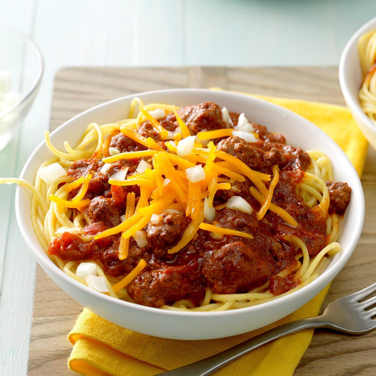 Carrie S Cincinnati Chili Recipe How To Make It Taste Of Home