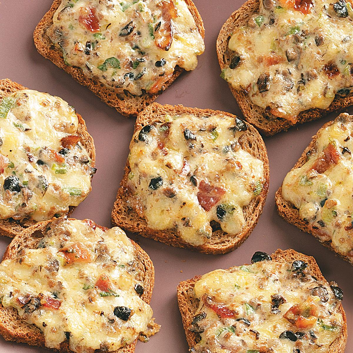 Cheese Rye Appetizers Recipe How To Make It Taste Of Home