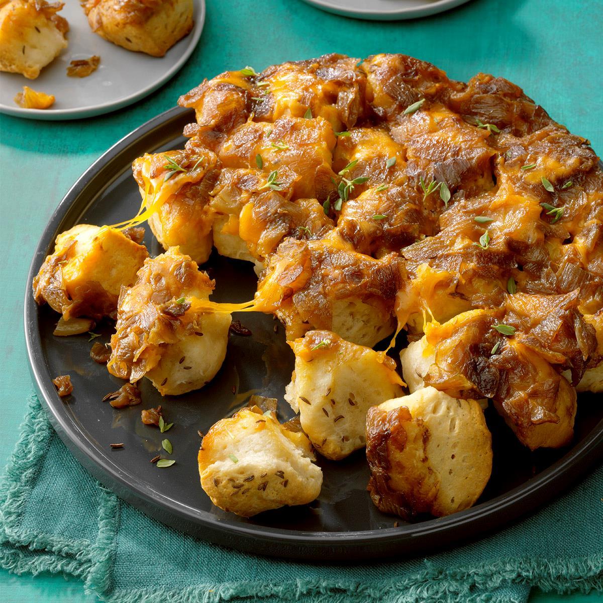 Cheesy Caramelized Onion Skillet Bread