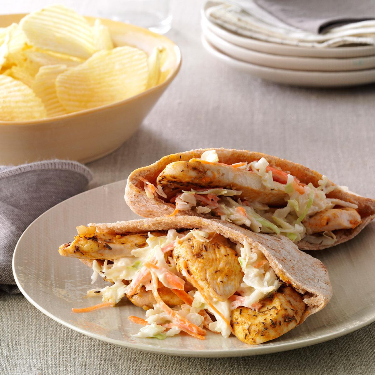 Chicken Pita Pockets Recipe How To Make It Taste Of Home