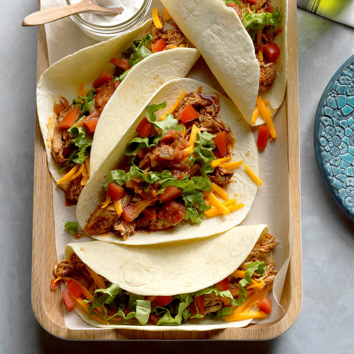 Chicken Soft Tacos Recipe How To Make It Taste Of Home