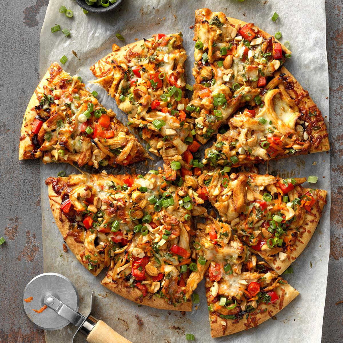 Cashew Chicken Pizza