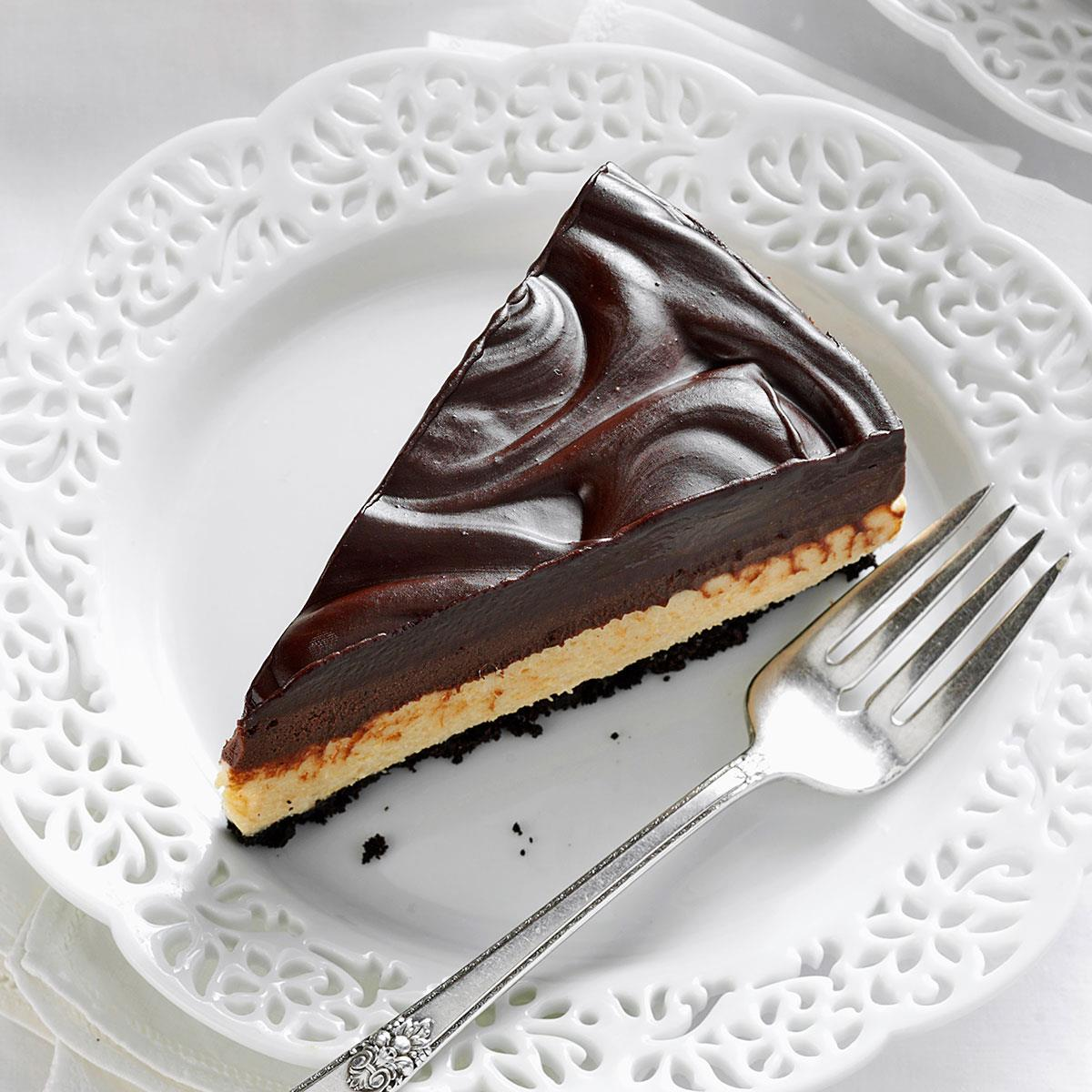 Chocolate Peanut Butter Mousse Cheesecake Recipe How To Make It Taste Of Home