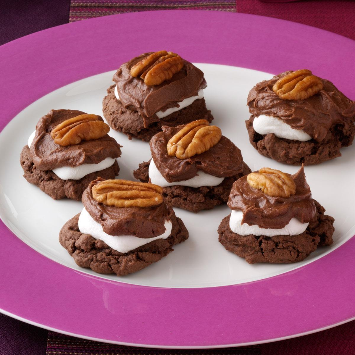 Chocolate-Covered Marshmallow Cookies image