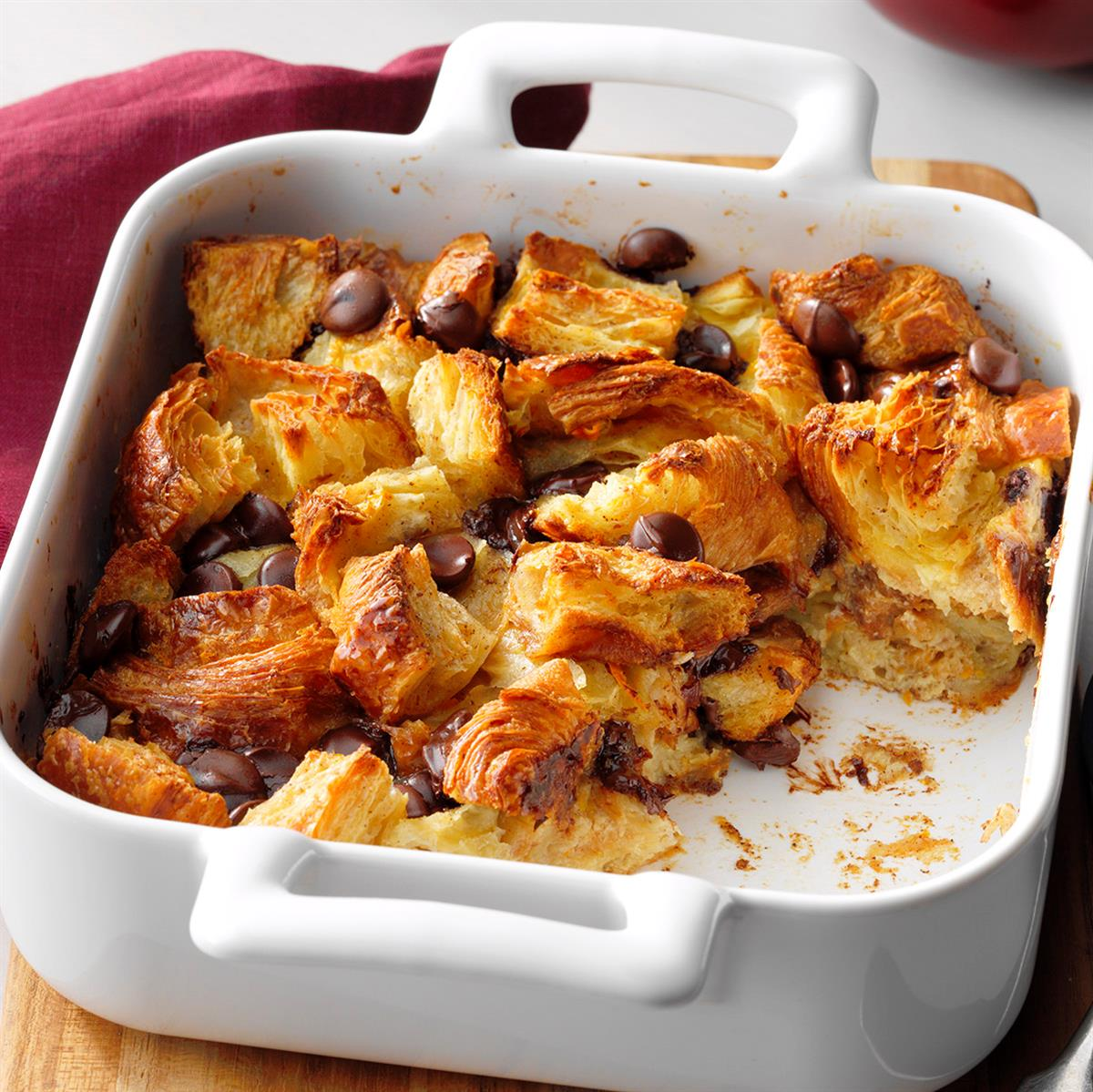 Chocolate Croissant Bread Pudding image