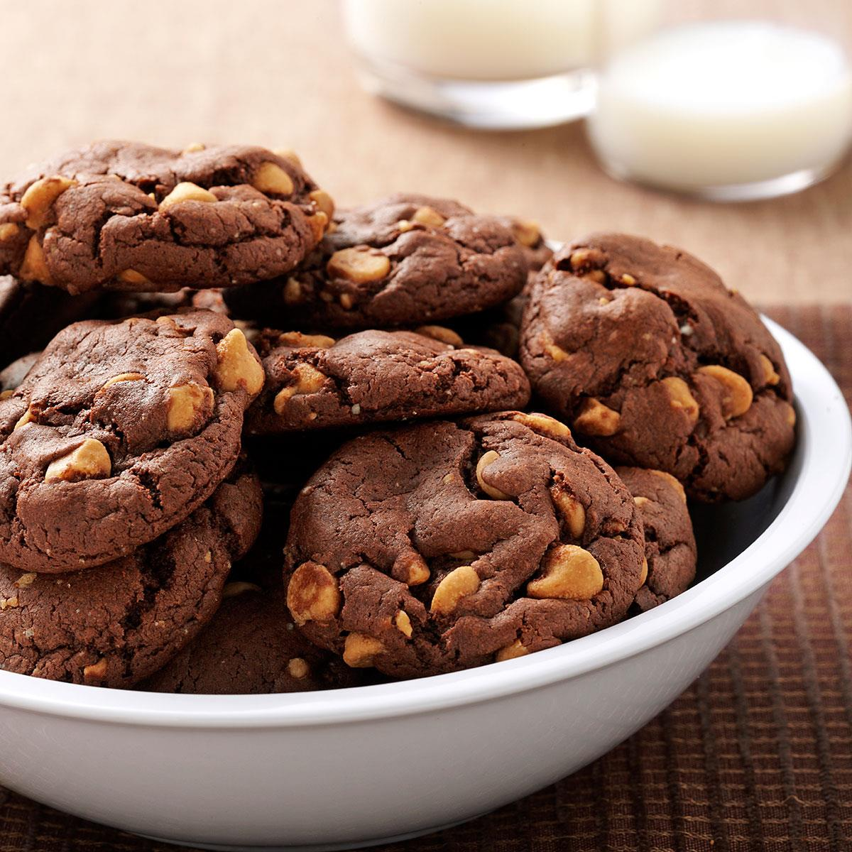 Chocolate Peanut Butter Chip Cookies Recipe How To Make It Taste Of Home
