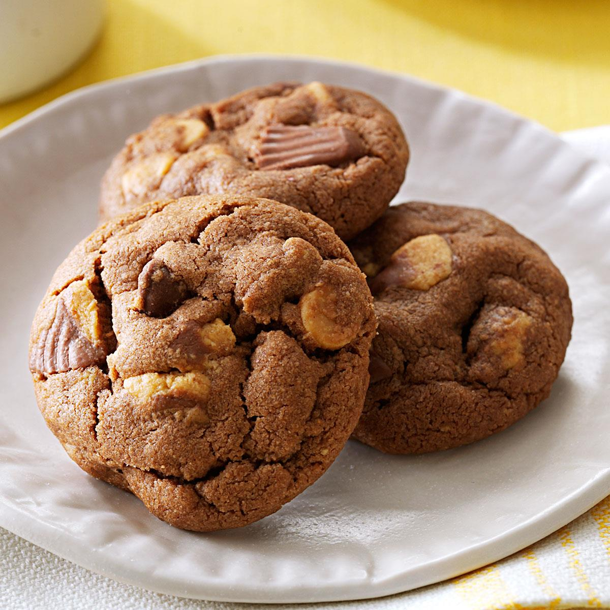 Chocolate Peanut Butter Cup Cookies Recipe How To Make It Taste Of Home