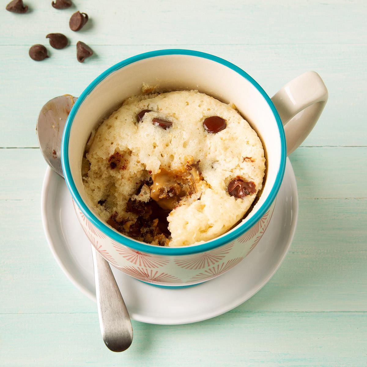 Chocolate Peanut Butter Mug Cake Recipe How To Make It Taste Of Home