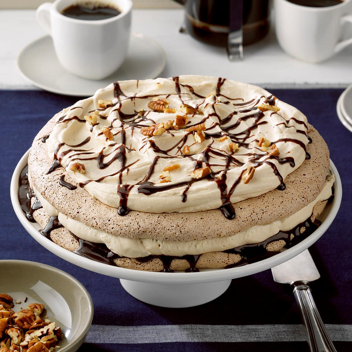 Chocolate Pecan Pavlova