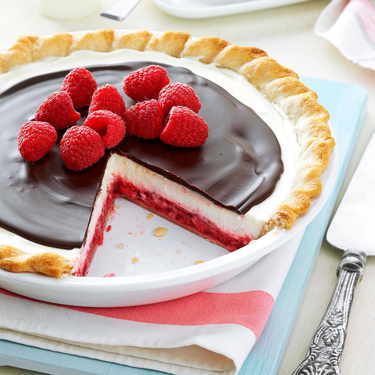 Chocolate Raspberry Pie image