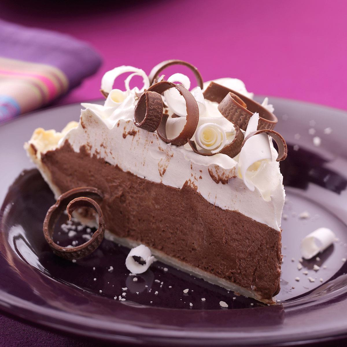 Chocolate Silk Pie Recipe How To Make It Taste Of Home