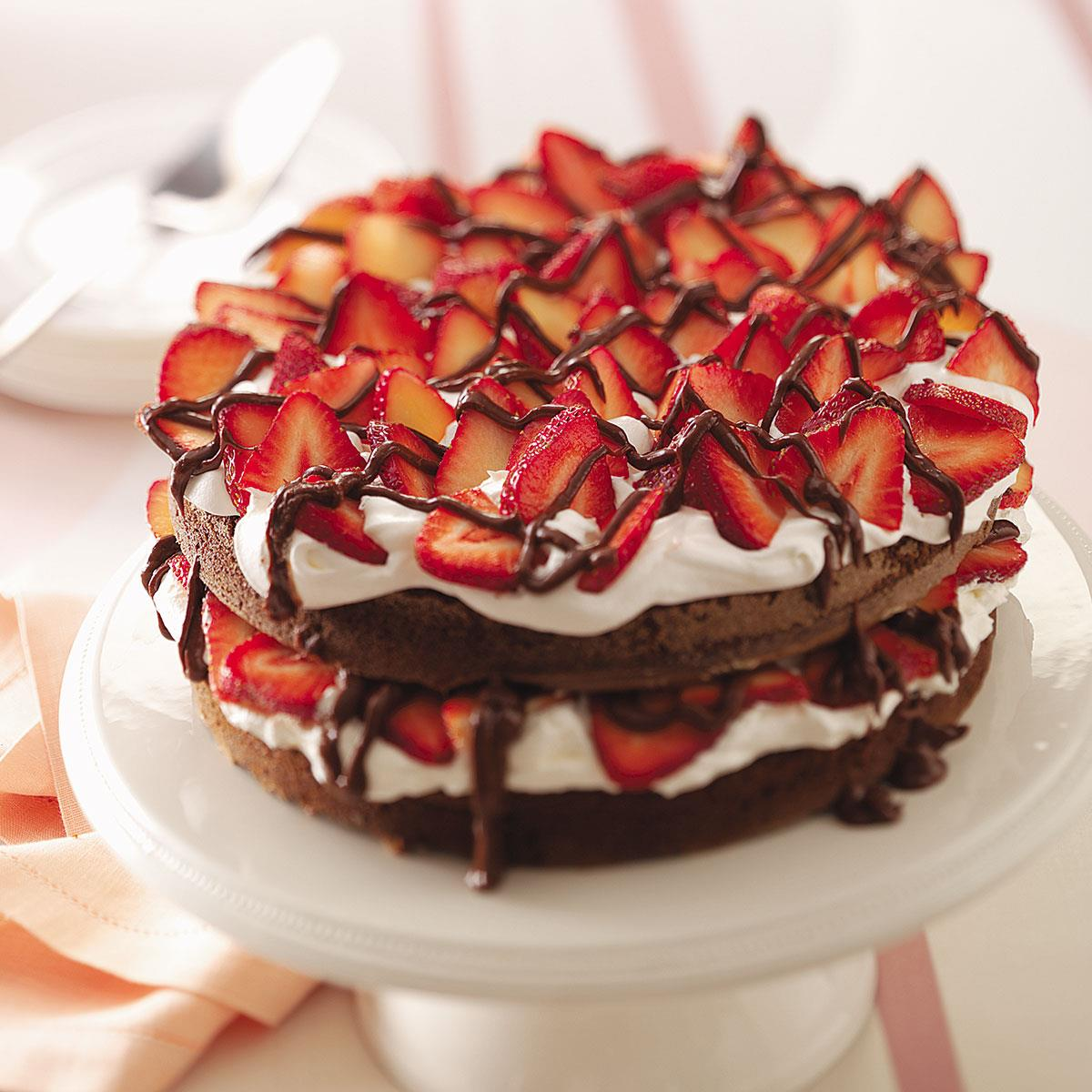 Chocolate Strawberry Torte Recipe How To Make It Taste Of Home
