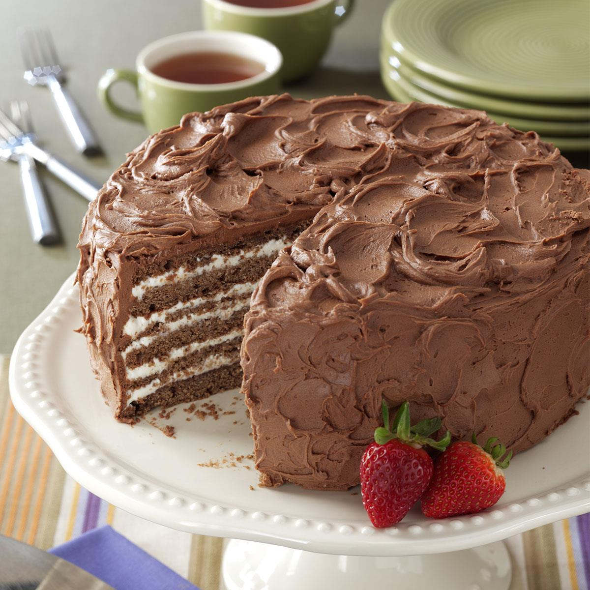 Chocolate Whipping Cream Torte Recipe How To Make It Taste Of Home