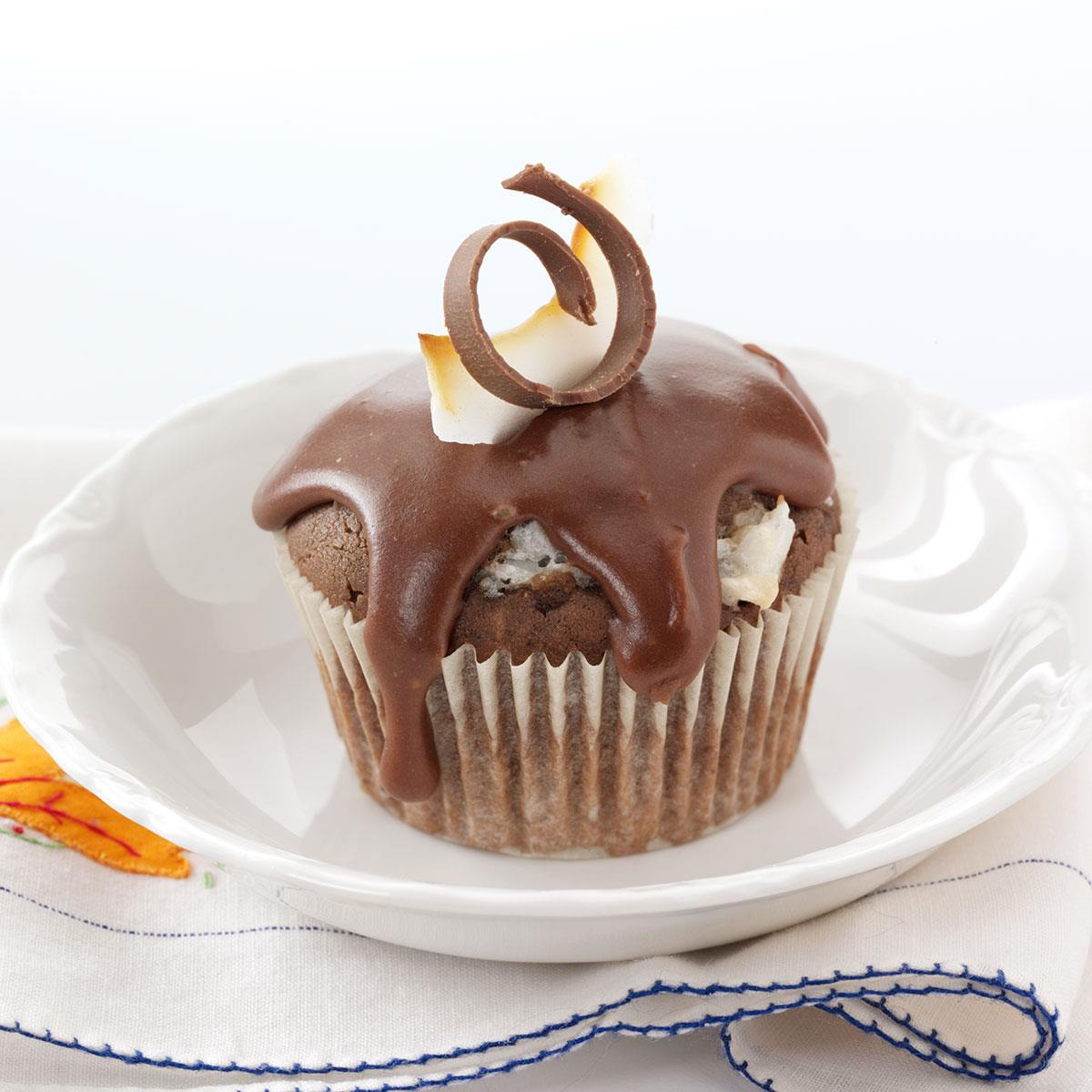 Coconut-Filled Chocolate Cupcakes image