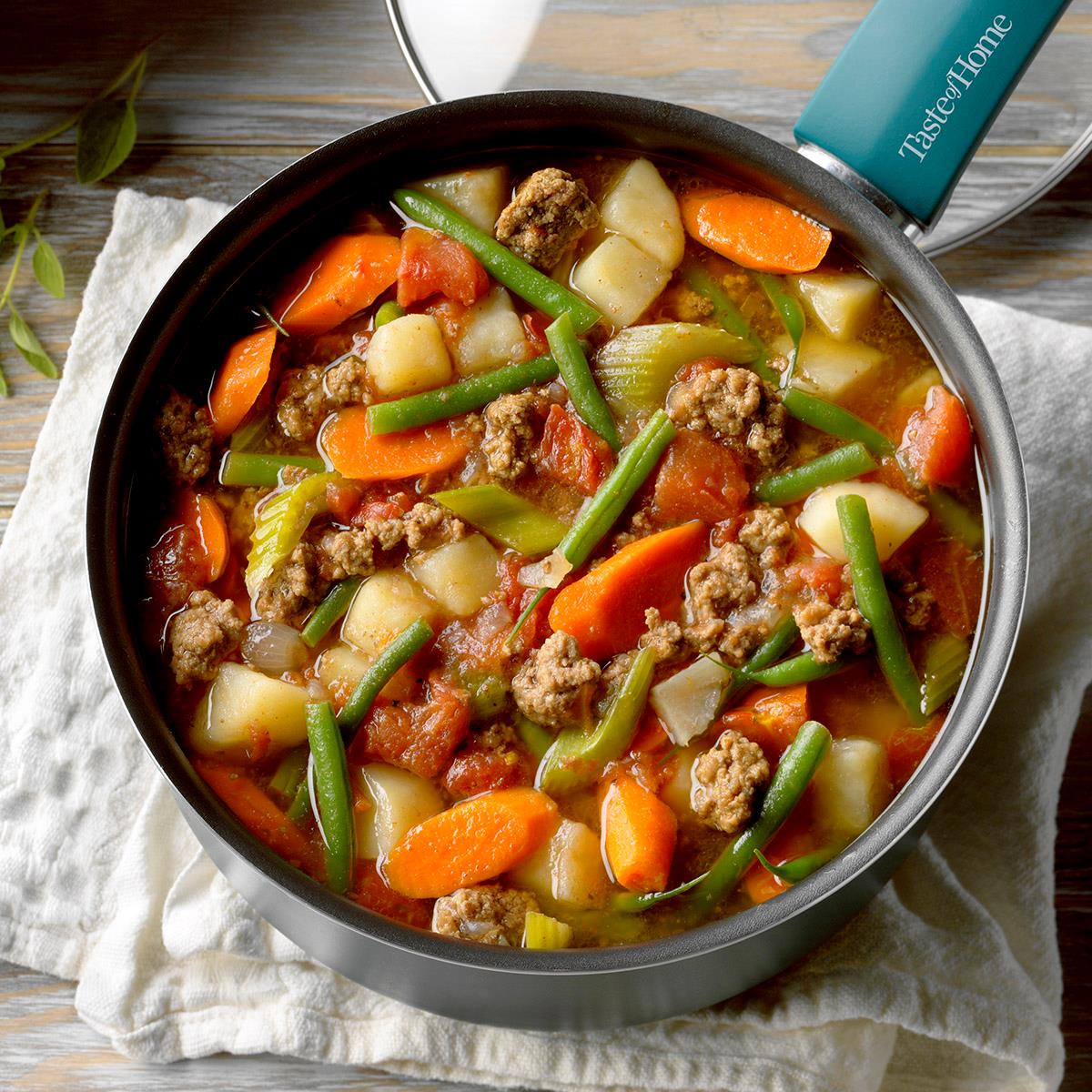 Contest Winning Hearty Hamburger Soup Recipe How To Make It Taste Of Home