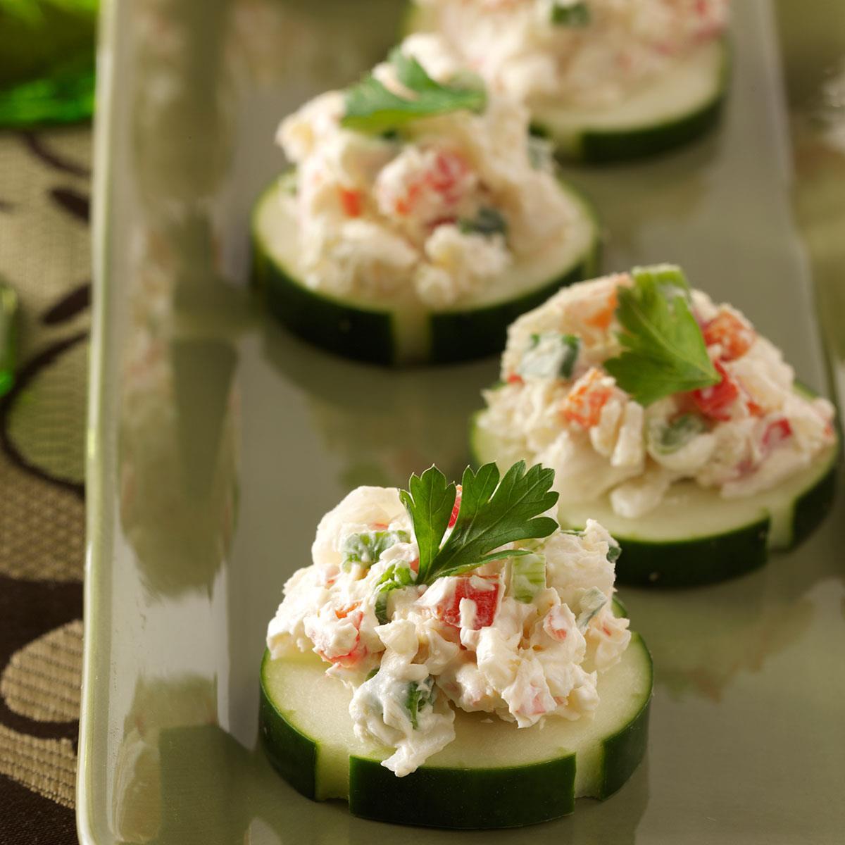 Crab Cucumber Bites Recipe How To Make It Taste Of Home