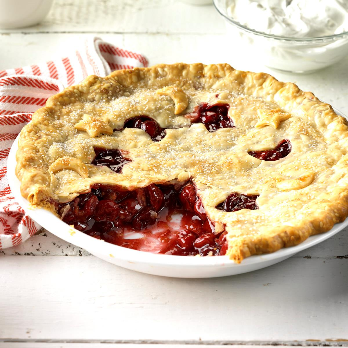 Cranberry-Cherry Nut Pie image