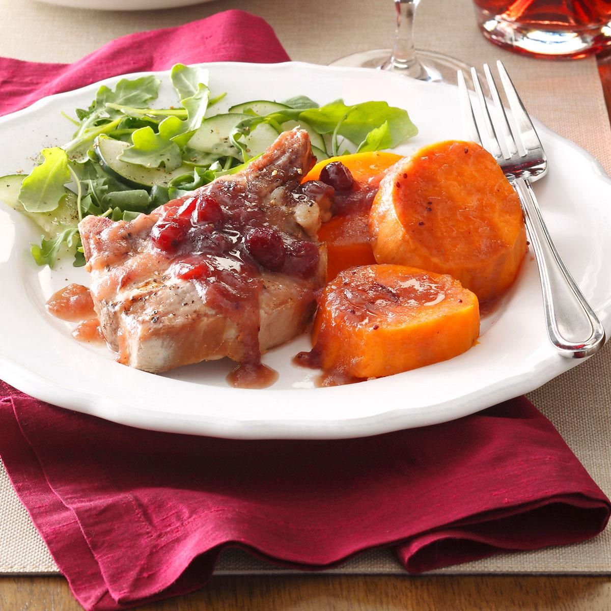 Cranberry Pork & Sweet Potatoes image