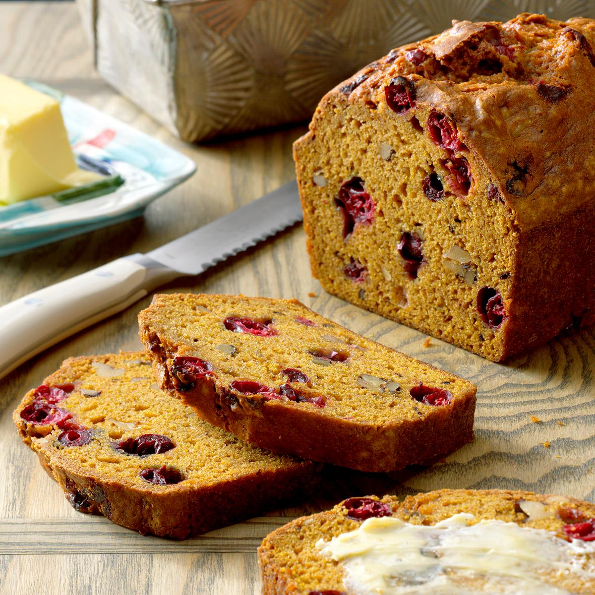 Cranberry Pumpkin Bread Recipe How To Make It Taste Of Home