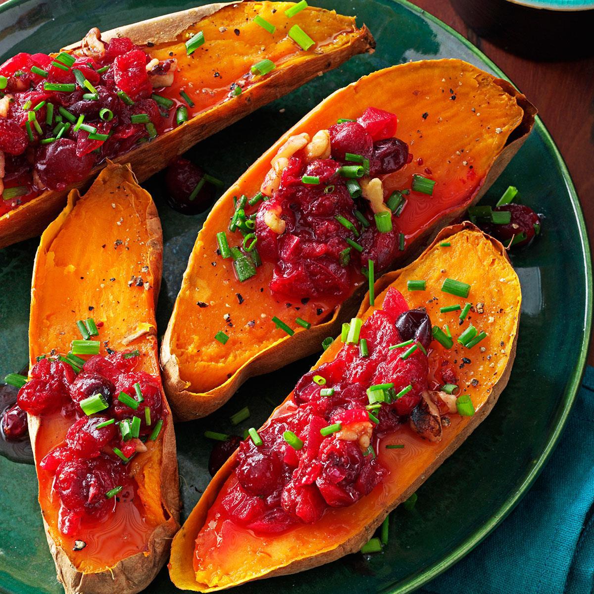 Cranberry-Walnut Sweet Potatoes image