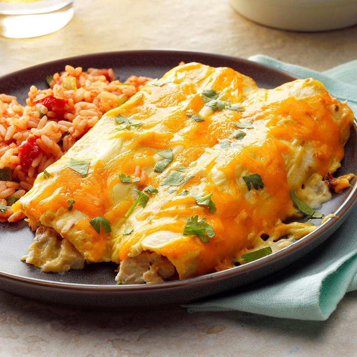 Creamy Chicken Enchiladas Recipe How To Make It Taste Of Home