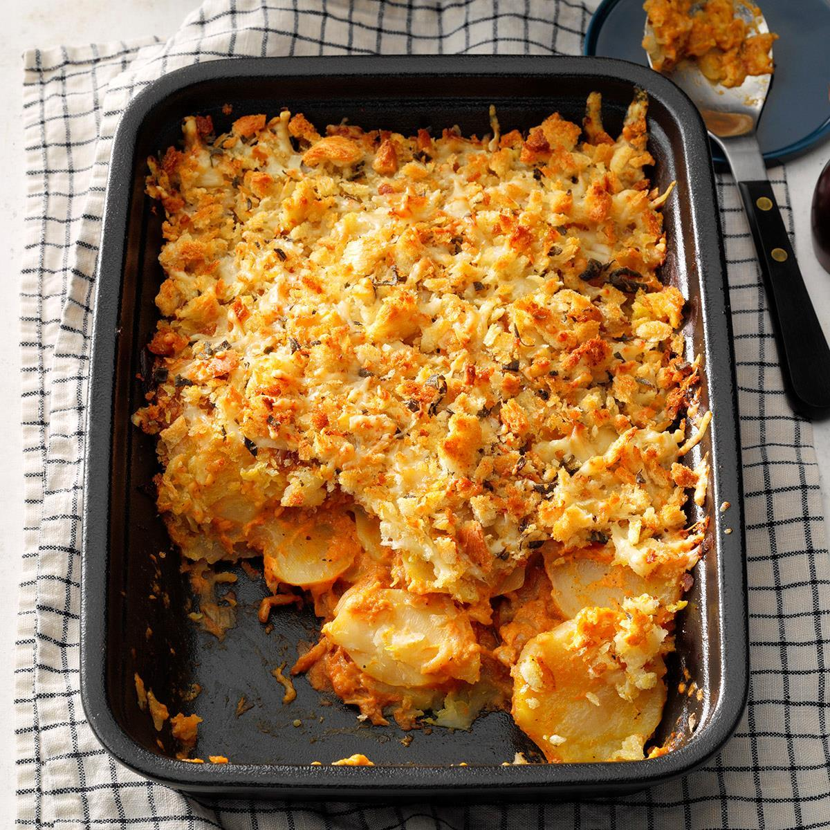 Crunchy Au Gratin Potatoes Recipe How To Make It Taste Of Home