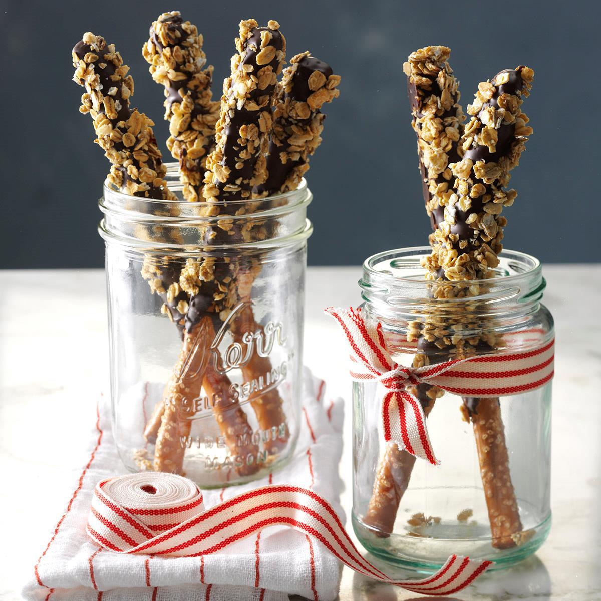 Crunchy Granola Pretzel Sticks