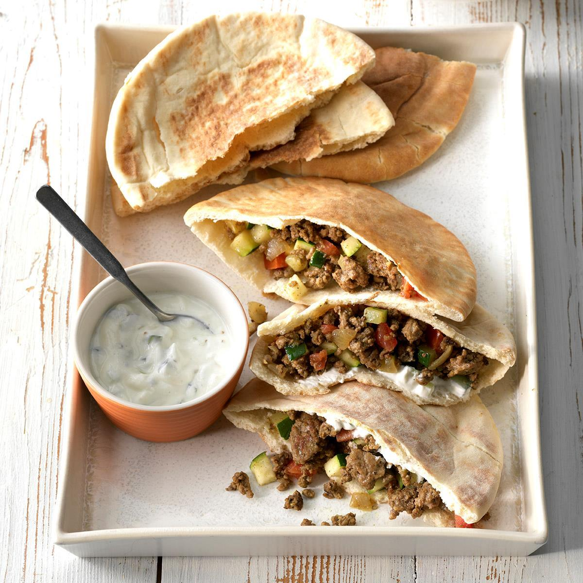 Curried Beef Pita Pockets Recipe How To Make It Taste Of Home